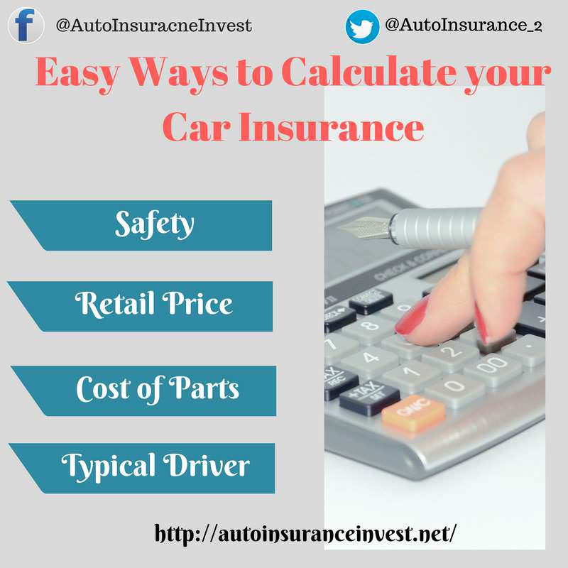 Ways to Caluclate car insurance premiums