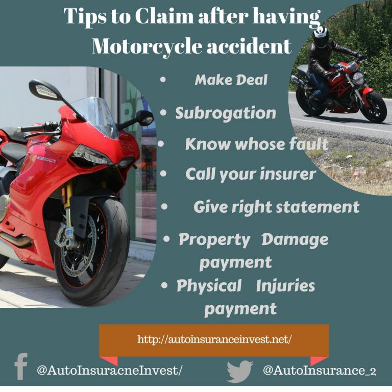 how to claim motorcycle insurance after motorcycle accident