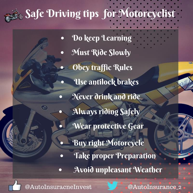 10 safe driving tips for Motorcyclist