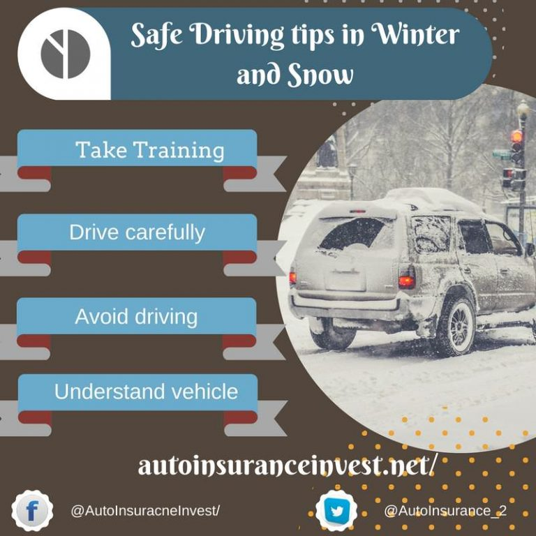 Safe Driving tips in Winter and Snow