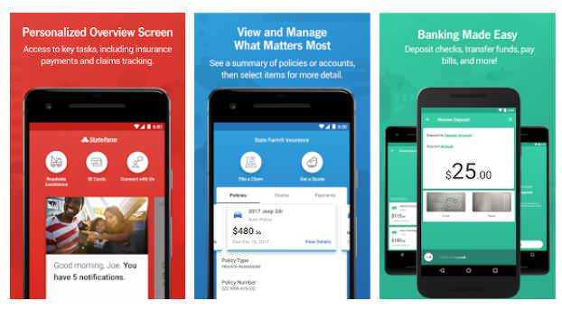 state farm most popular auto insurance app