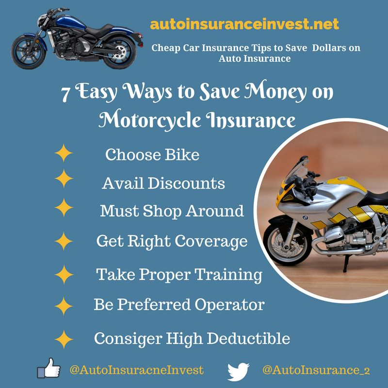 7 easy ways to save money on motorcycle insurance auto insurance invest. Black Bedroom Furniture Sets. Home Design Ideas