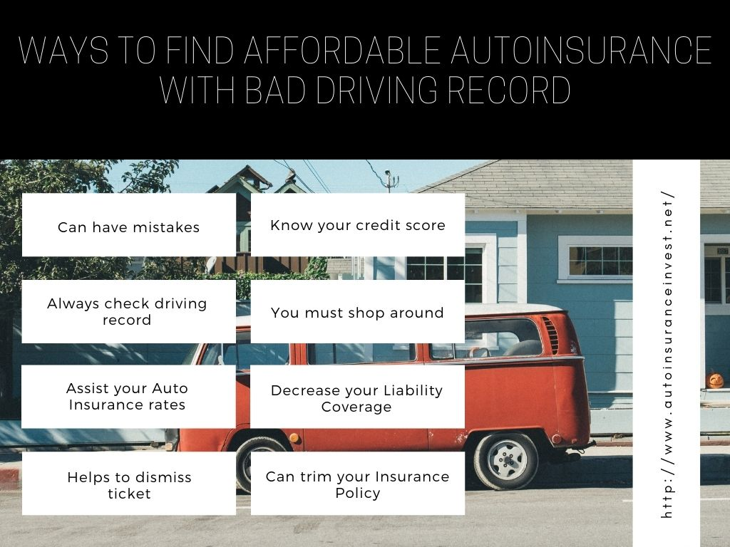 Ways to find affordable auto insurance with bad driving record