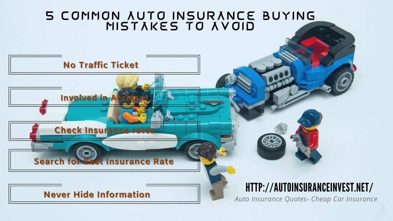 5 Common Auto Insurance Buying Mistakes to Avoid